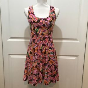 Free People Colorful Butterfly Print Dress